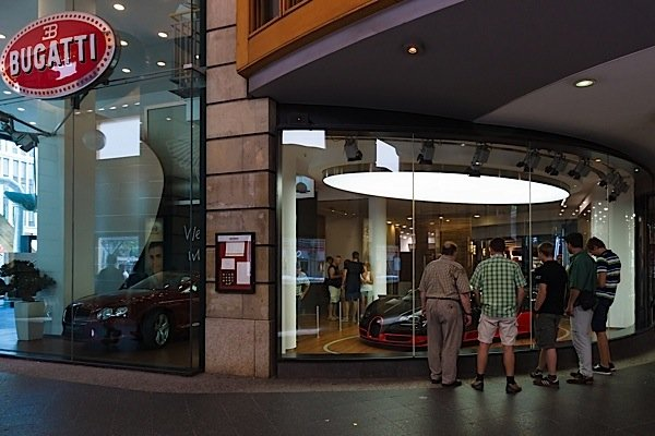 bugatti-auto-showroom-Germany-Scotiabank-global-auto-report-EDIWeekly