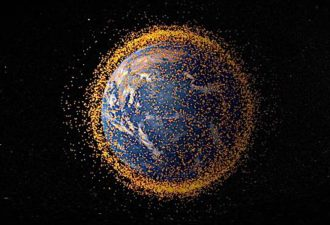 "100,000 watt laser firing 10,000 pulses per second would ""deorbit"" tons of dangerous space debris"