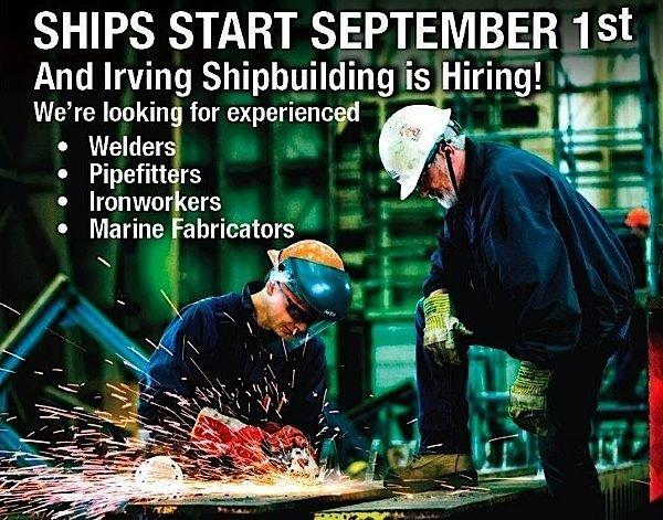 Irving-shipbuilding-iornworker-welder-skilled-worker-employment-EDIWeekly