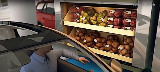 Drive in supermarket proof of concept video