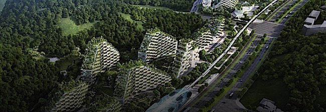 Forest vertical cities in china first forest city under for Liuzhou forest city