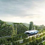 Forest vertical cities in China: first forest city under construction covered in 1 million plants; produce 900 tons oxygen daily