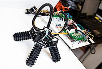 3D printed, walking robot: this multi-purpose,  soft-legged robot can navigate rough terrain, access tiny spaces