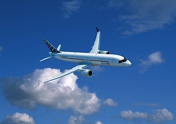 Porter Airlimes Bombardier CSeries jets Billy Bishop Airport Rob Ford Toronto EDIWeekly