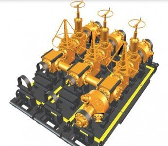 GE Modular Frac Manifold hydraulic fracturing shale unconventional resources oil drilling extraction EDIWeekly
