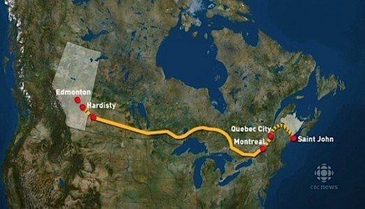 Energy East Pipeline TransCanada Irving Oil Canaport crude Alberta New Brunswick EDIWeekly