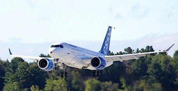 CS100 Bombardier commercial jet test flight Mirabel Montreal EDIWeekly