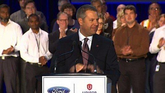 Joe Hinrichs President Ford Motor Company Americas Oakville investment Ford Flex Lincoln EDIWeekly