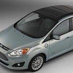Ford CMAX Solar Energi Concept car hybrid plugin grid concentrator Fresnel lens EDIWeekly