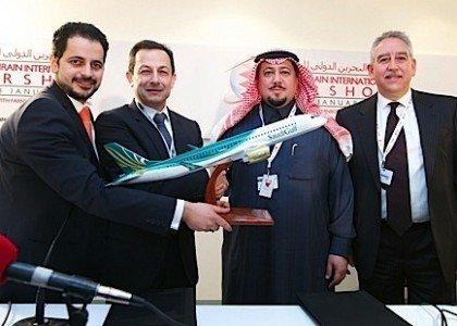 SaudiGulf Airlines Bahrain International Air Show Bombardier CSeries aerospace EDIWeekly
