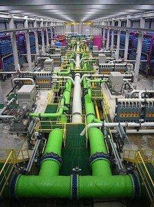 desalination plant Barcelona California valve gate globe flow fluidics osmosis reverse industry oil gas LNG EDIWeekly