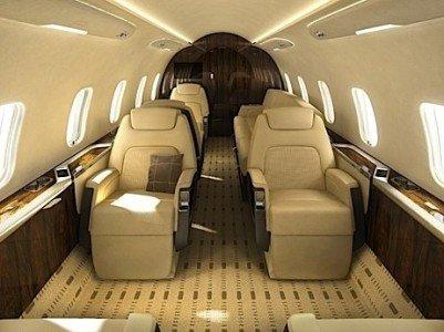 Challenger350 interior Bombardier NetJets Berkshire Hathaway Warren Buffett business jet EDIweekly