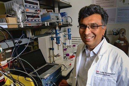Sri Naratan professor chemistry University Southern California energy storage battery organic carbon dioxide quinones EDIWeekly