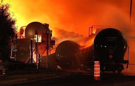 Lac Megantic train derailment MMA Transport Canada Transportation Safety Board oil fire disaster SafetyReboot