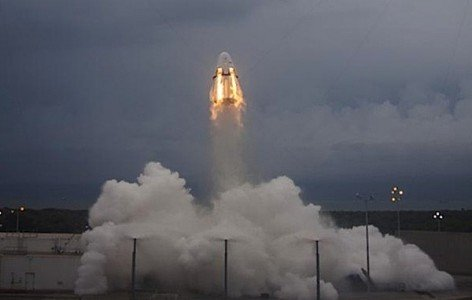 SpaceX Dragon pad abort test Cape Canaveral Florida EDIWeekly