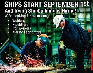 Irving shipbuilding iornworker welder skilled worker employment EDIWeekly