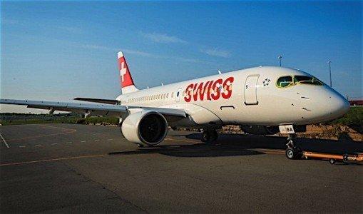 Swiss Air Bombardier CSeries CS100 Farnborouhg Air Show Quebec aerospace indusry Canada EDIWeekly