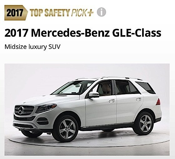 Two Cars Of The Same Rating From Iihs Both Safety Plus May Still Fare Better In Real Life Crashes Based On Size Mercedes Gle Was A Top 11