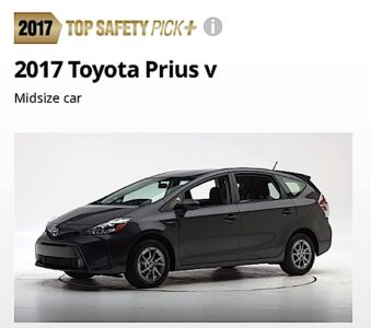 Engineered Design Insider2017 Toyota Prius V a safety pick pick for IIHSOil Gas Automotive Aerospace Industry Magazine
