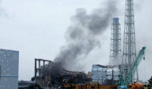 Fukushima Dai ichi nuclear power plant in Okuma damage