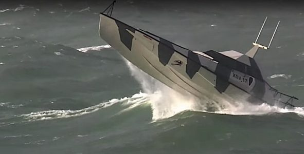 Engineered Design Insider Thunder Cat breaks through waves and is survivable up to sea state 8Oil Gas Automotive Aerospace Industry Magazine