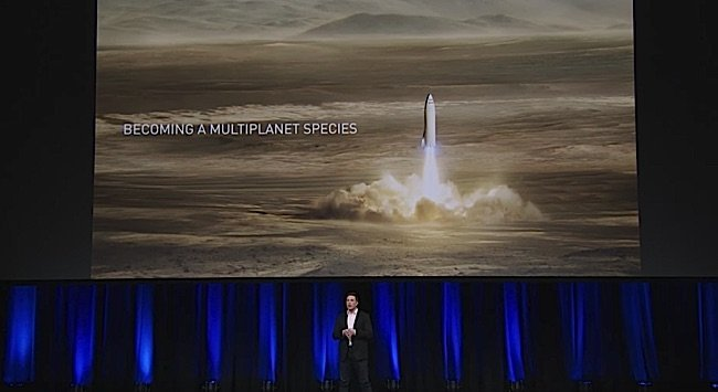 Engineered Design Insider A Elon Musk on stage in Australia at IAC describing revised multi planetary species Space X planOil Gas Automotive Aerospace Industry Magazine