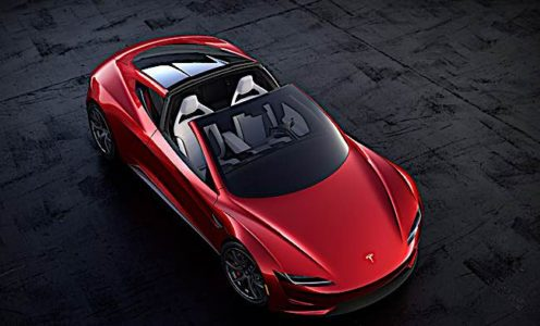 Engineered Design Insider Tesla roadster parked with roof openOil Gas Automotive Aerospace Industry Magazine