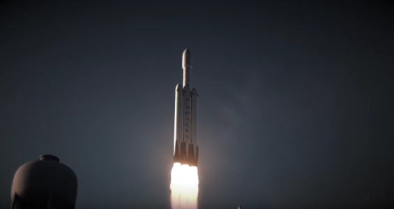 Animation of Space X Heavy launch