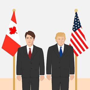 Engineered Design Insider Donald Trump and Justin Trudeau Cartoon Canada and USOil Gas Automotive Aerospace Industry Magazine