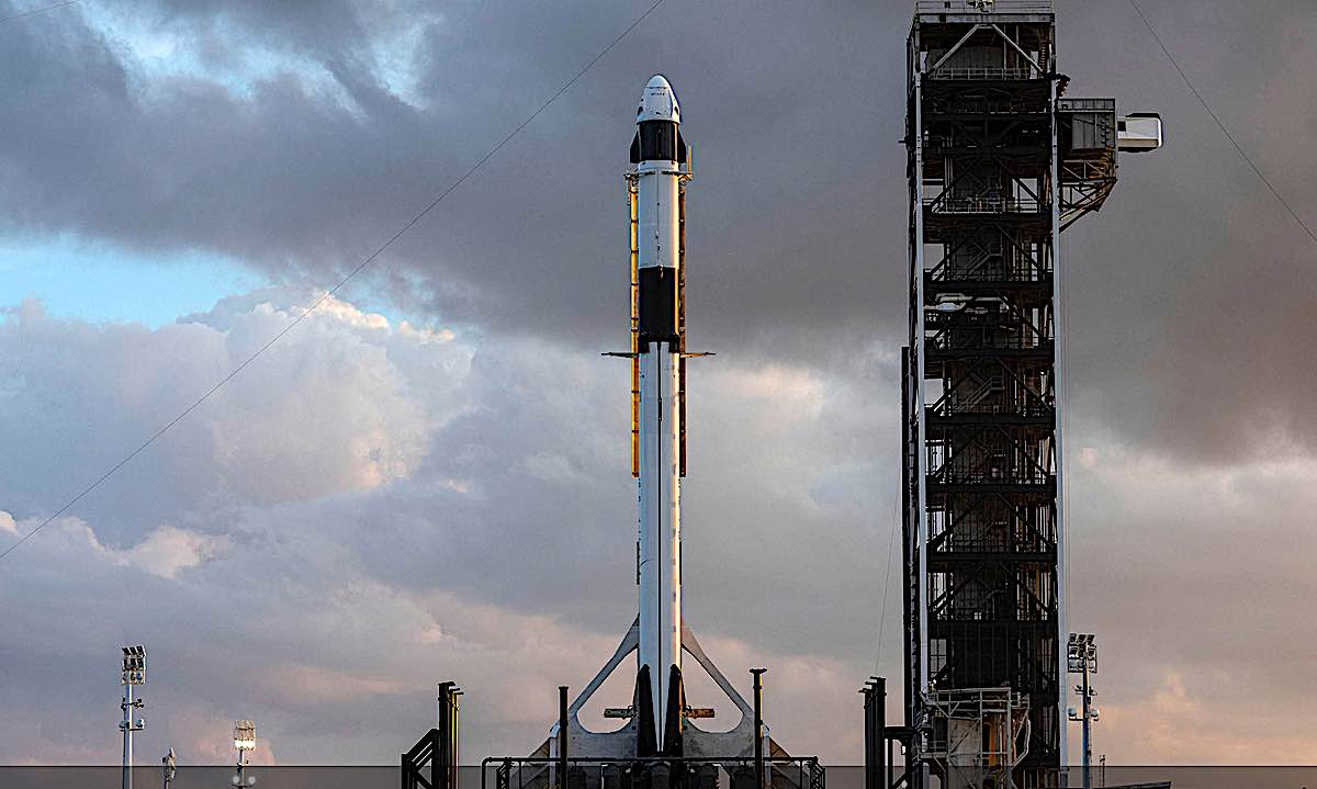 Engineered Design Insider Crew Dragon on the launch padOil Gas Automotive Aerospace Industry Magazine