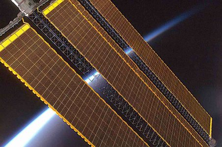 Engineered Design Insider Earth horizon and International Space Station solar panel array Expedition 17 crew August 2008Oil Gas Automotive Aerospace Industry Magazine