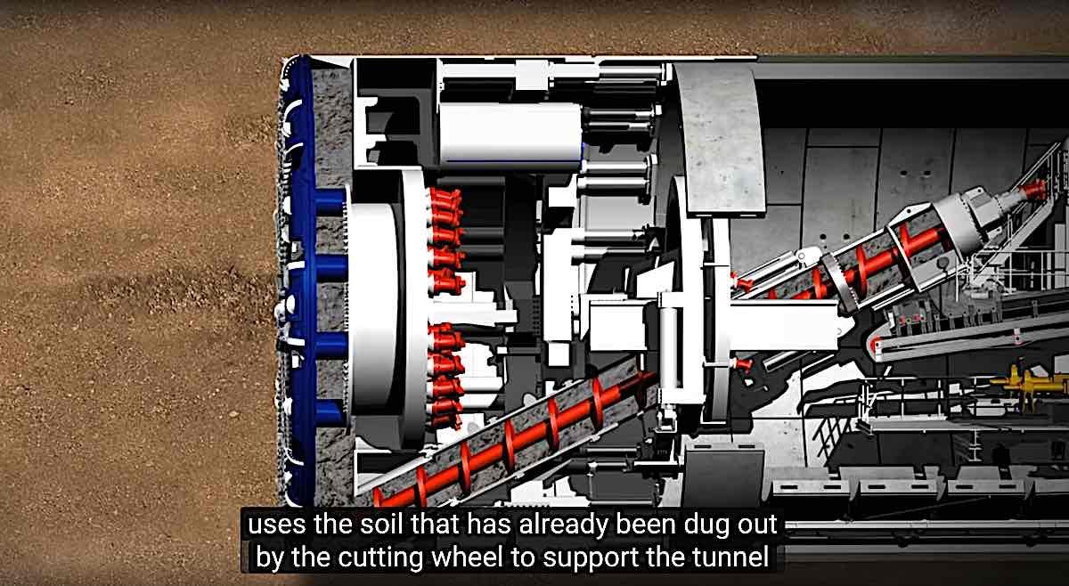 Engineered Design Insider TBM Crossrail monster tunneling maching mole soil dug out used to support tunnelOil Gas Automotive Aerospace Industry Magazine