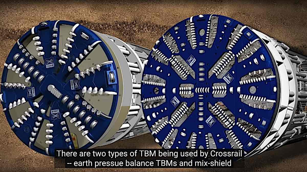 Engineered Design Insider TBM Crossrail monster tunneling maching mole two types of TBMOil Gas Automotive Aerospace Industry Magazine