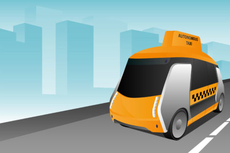 self driving taxi 131301480